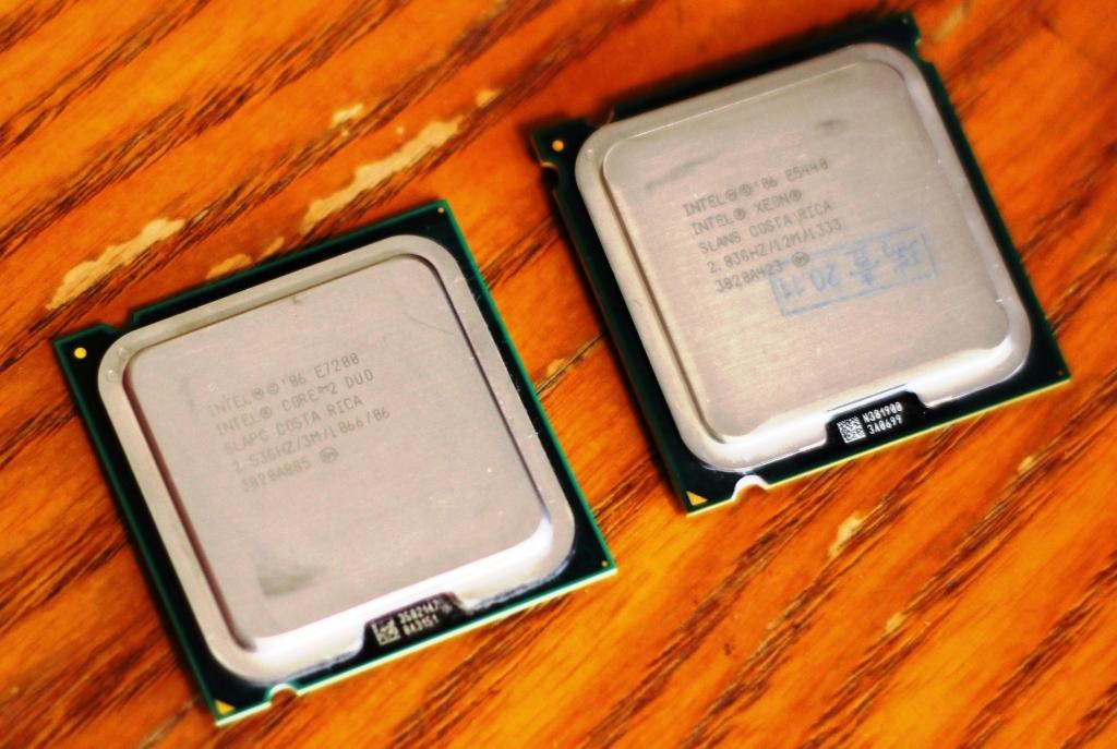 процессоры Xeon E5440 и Core DUO